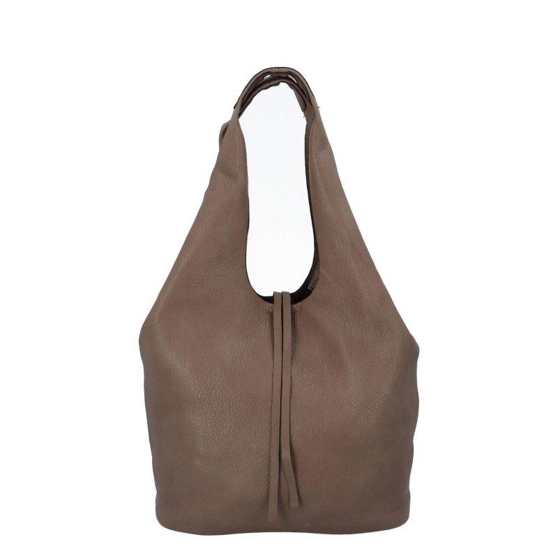 Trendová dámská koženková kabelka Esma, soil
