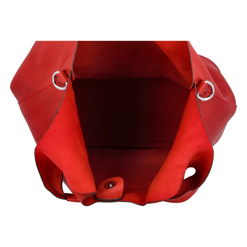 Trendová dámská koženková kabelka Esma, červená