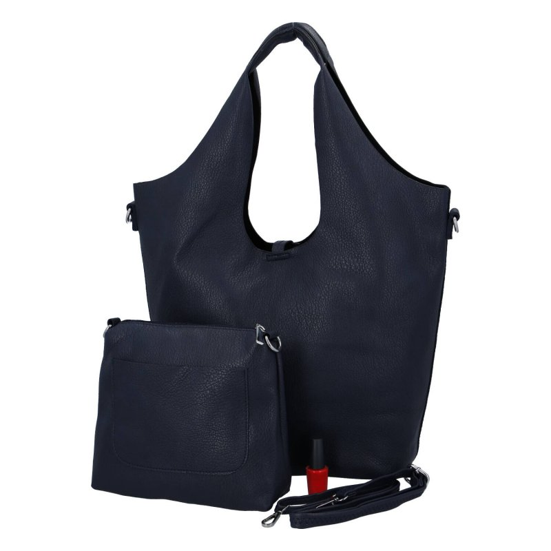 Trendová dámská koženková kabelka Esma, modrá