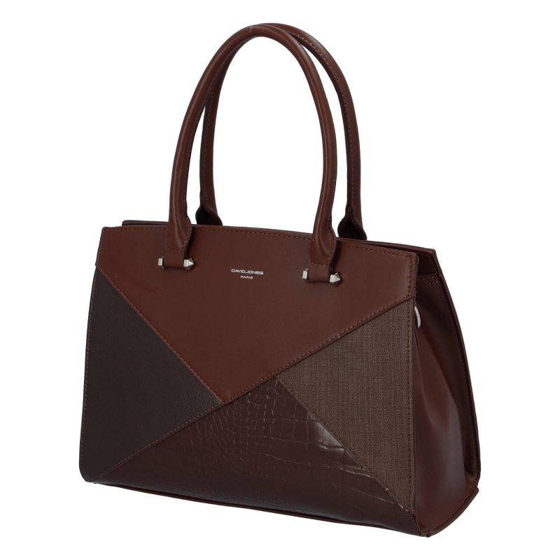 Trendová dámská kabelka Ashley, hnědá