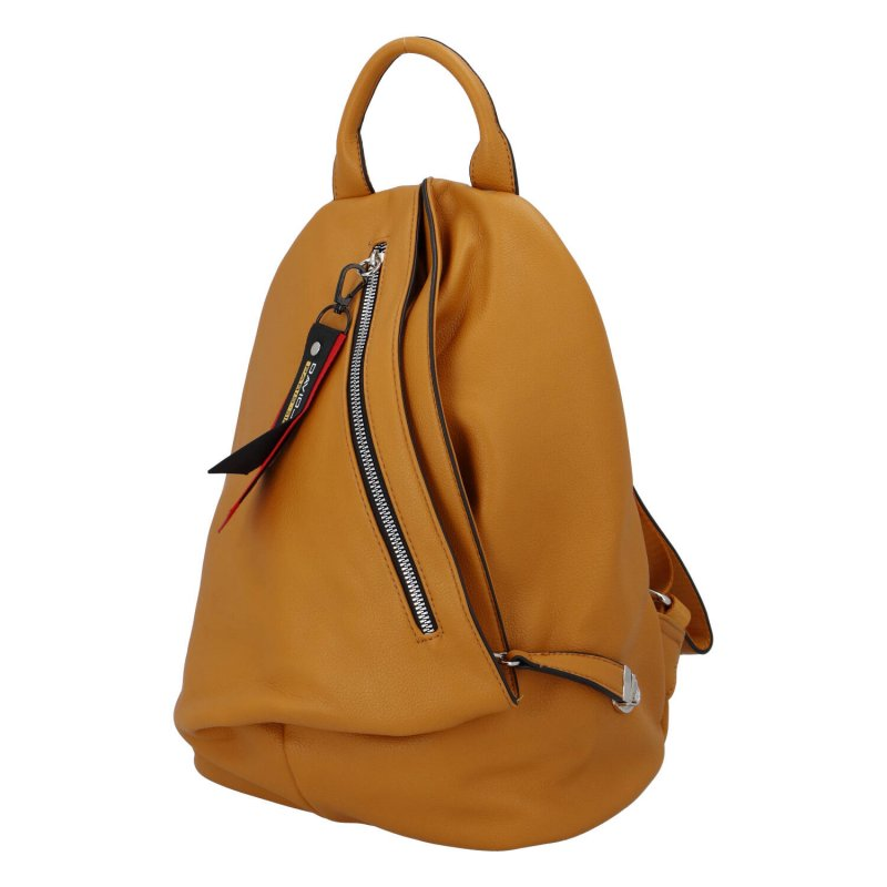 Jedinečný dámský batoh Poppy, žlutý