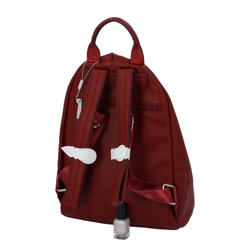 Jedinečný dámský batoh Poppy, červený