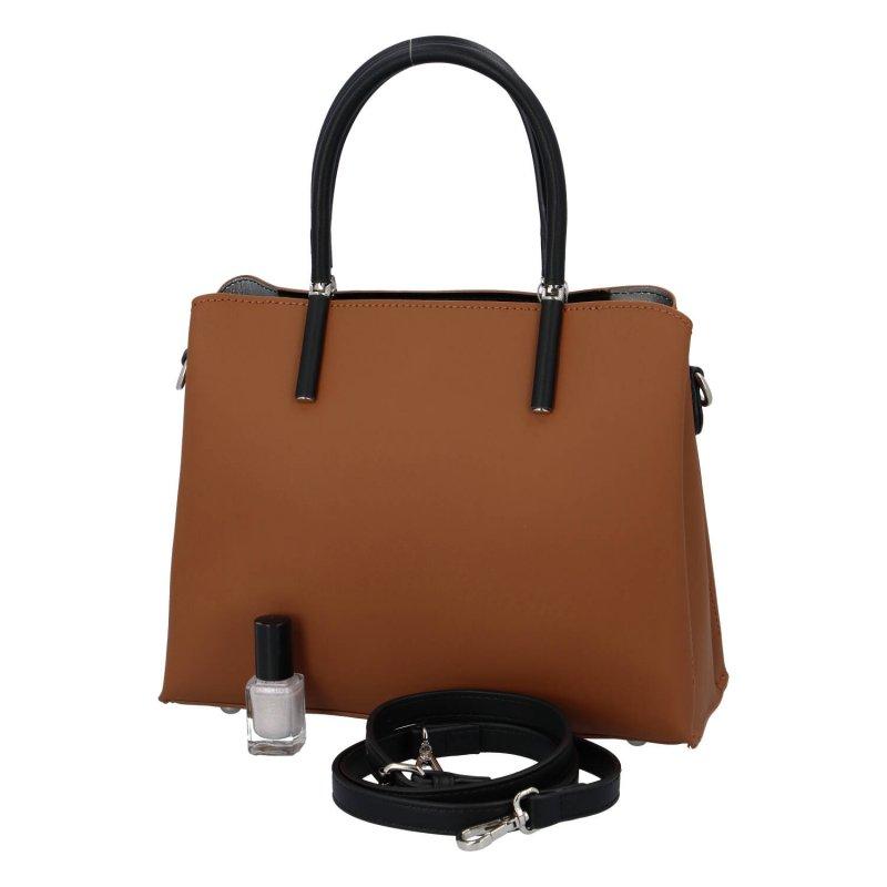 Luxusní dámská kabelka Francis, koňaková