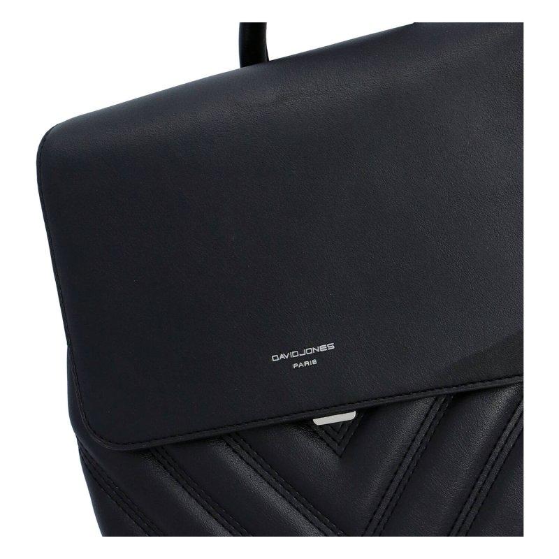 Městský módní dámský koženkový batůžek Francesca, černá