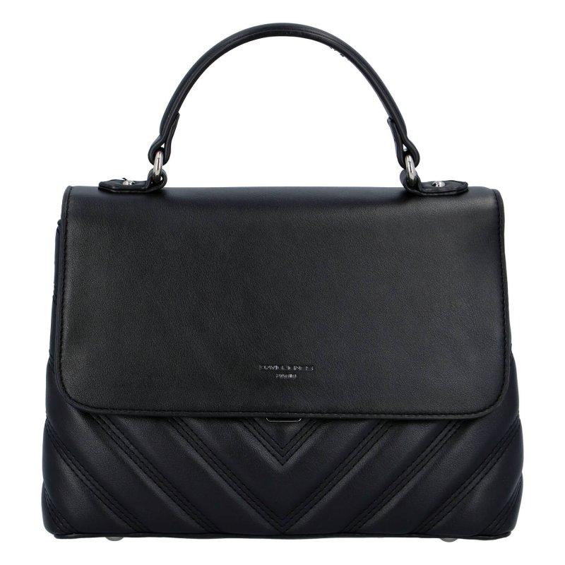 Zajímavá dámská koženková kabelka do ruky Claire, černá