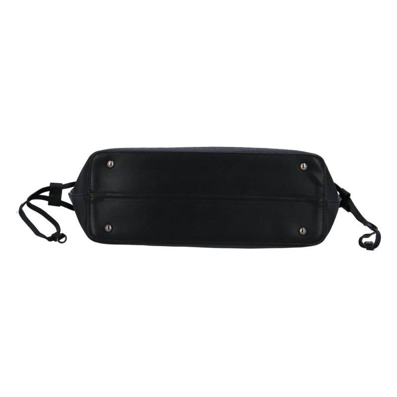 Módní dámská velká koženková kabelka Mollie, černá