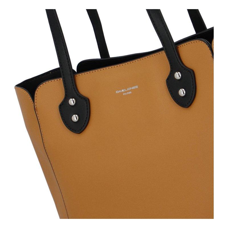 Velká a příjemná dámská koženková taška Amelia, žlutá