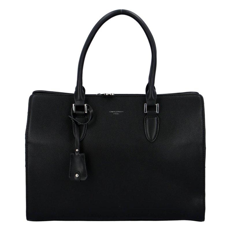 Dámská koženková kabelka kufříkového typu Sara, černá