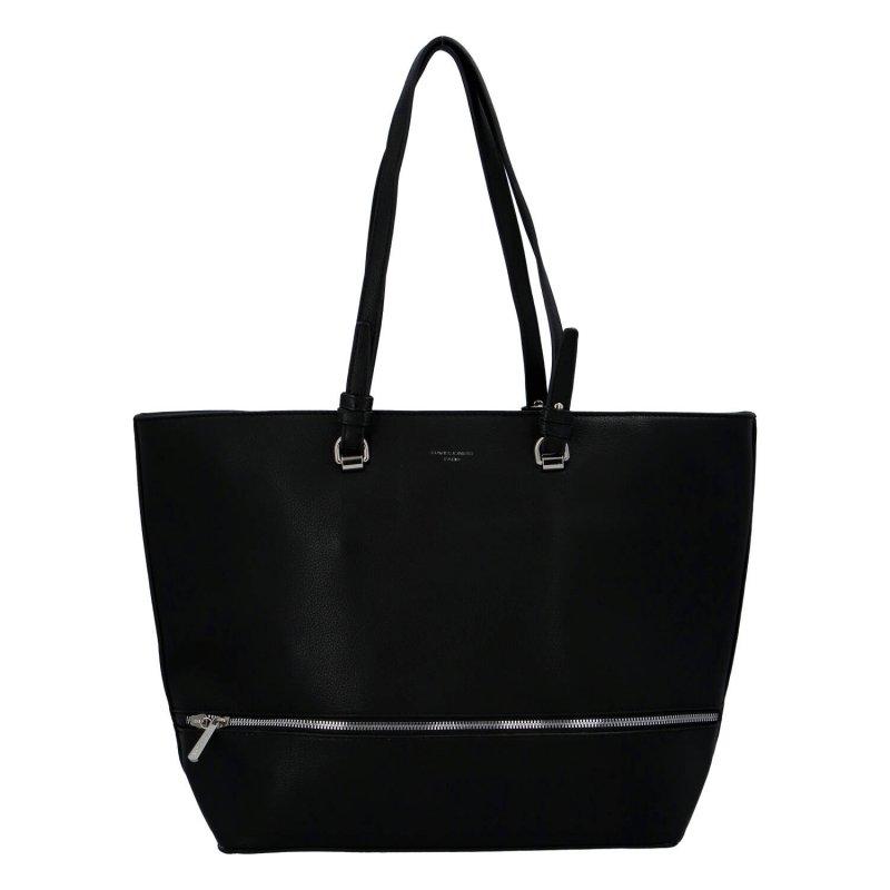 Velká stylová dámská koženková taška Nicole, černá