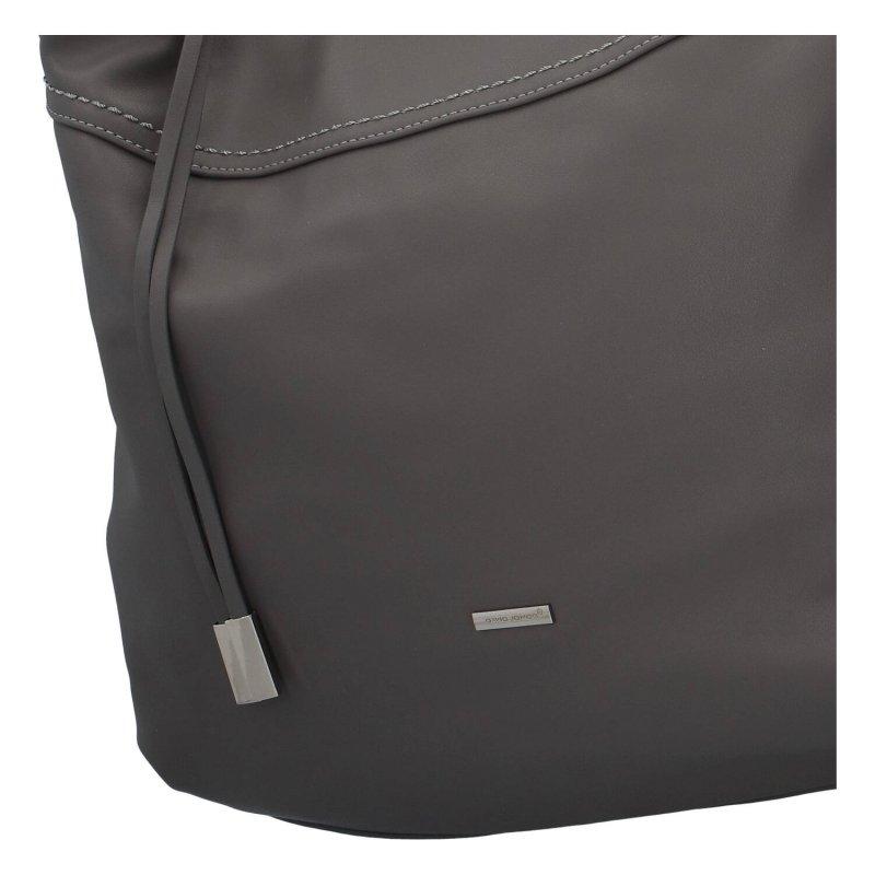 Pohodlná dámská koženková kabelka Celine, šedá