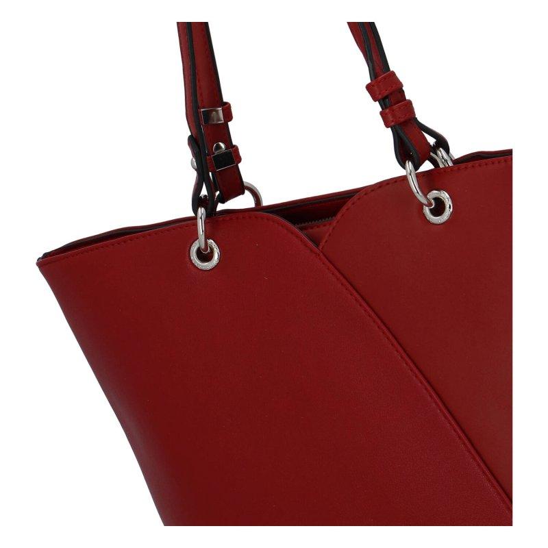 Dámská luxusní kabelka Lauren, červená