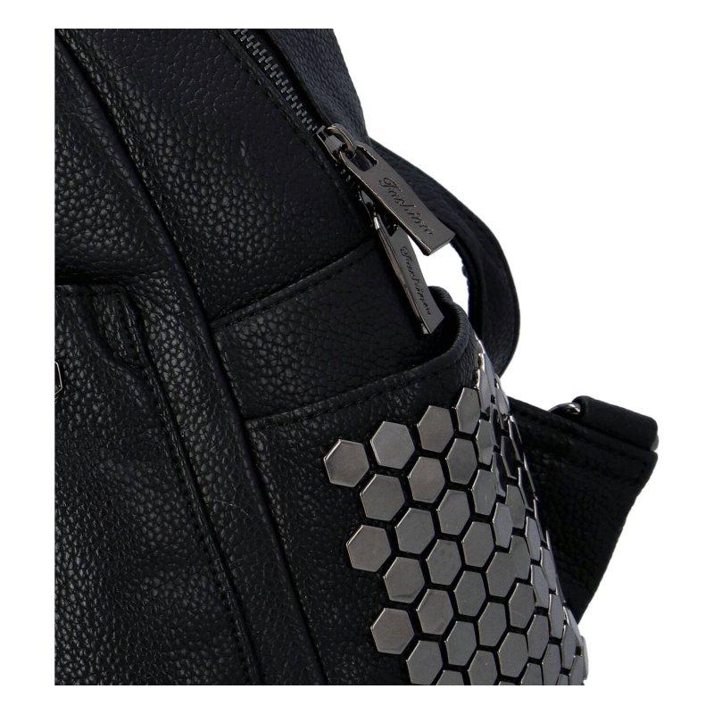 Dámský městský koženkový batůžek Azura, černá