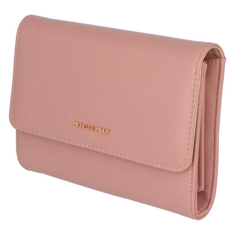 Elegantní dámská koženková kabelka Mirjanas heart, růžová