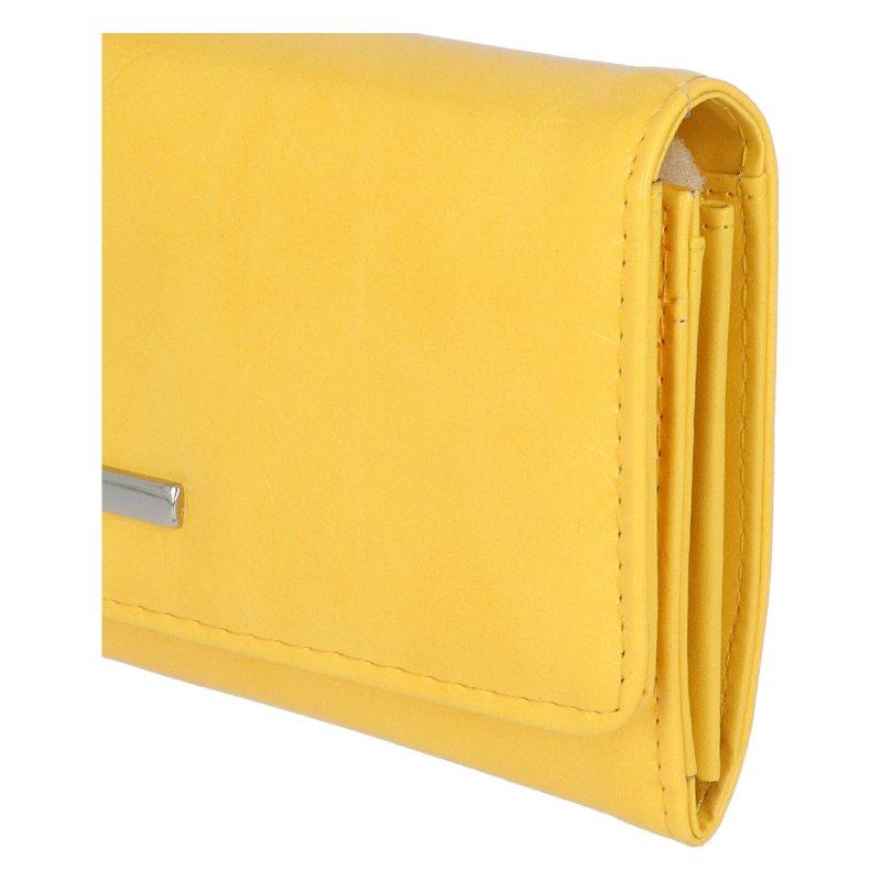 Dámské koženkové psaníčko Bella, žluté