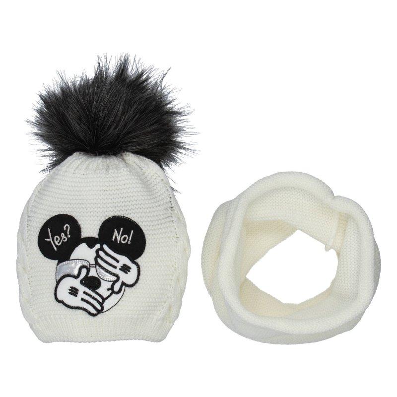 Dětská čepice s nákrčníkem Myšák, béžová