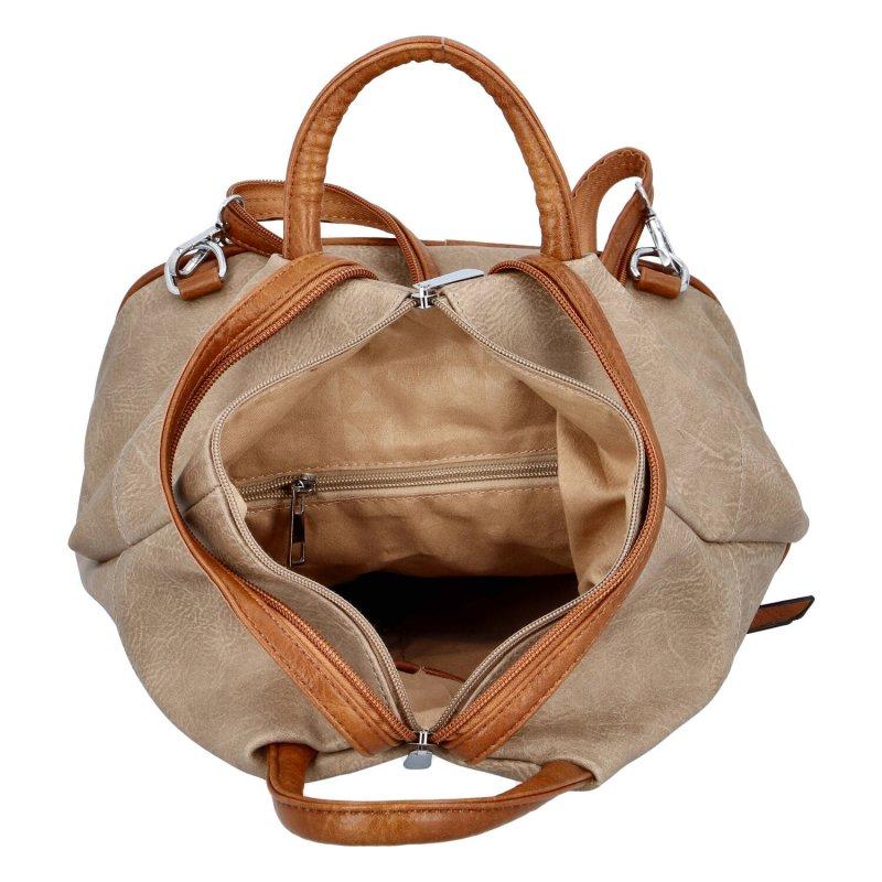 Dámský koženkový batoh Sybilka, soil