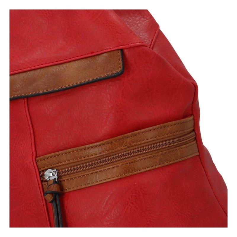Dámský koženkový batoh Sybilka, červený