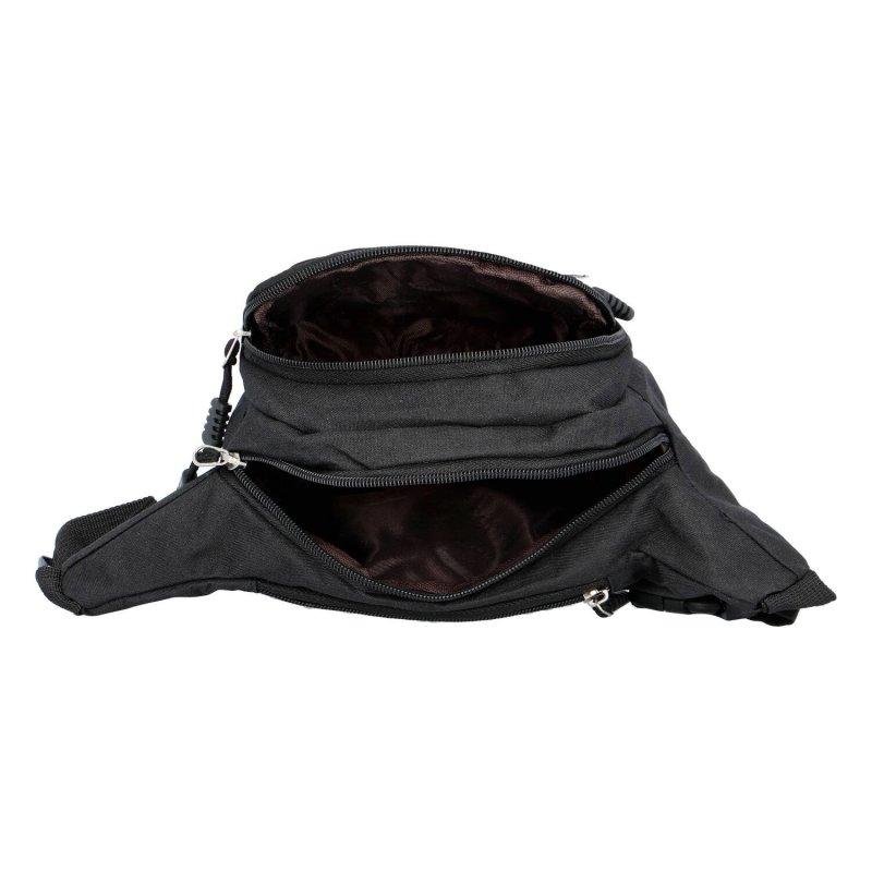 Moderní látková ledvinka Coveri, černá