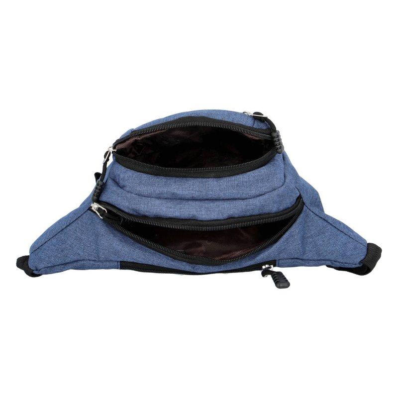Moderní látková ledvinka Coveri, modrá