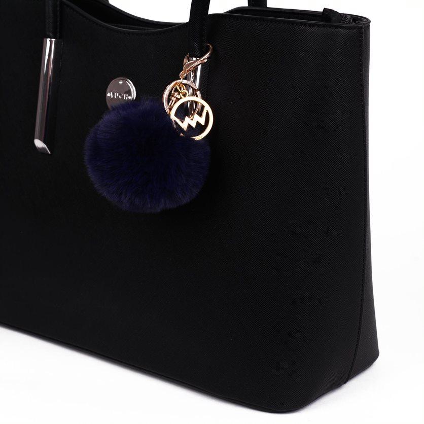 Přívěsek na kabelku VUCH Blue Fox Pom, modrý