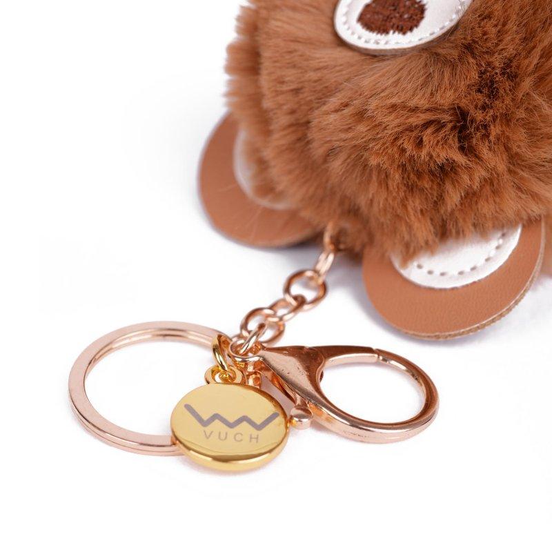 Přívěšek na kabelku VUCH Brown bear pom, hnědý