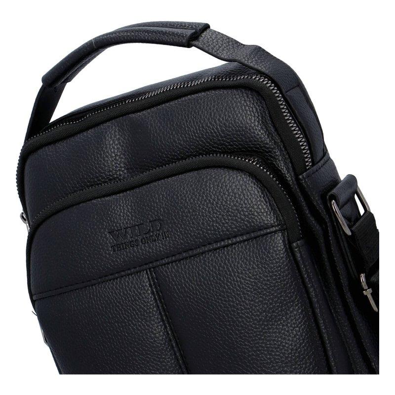 Moderní pánská koženková taška Wild dream, černá