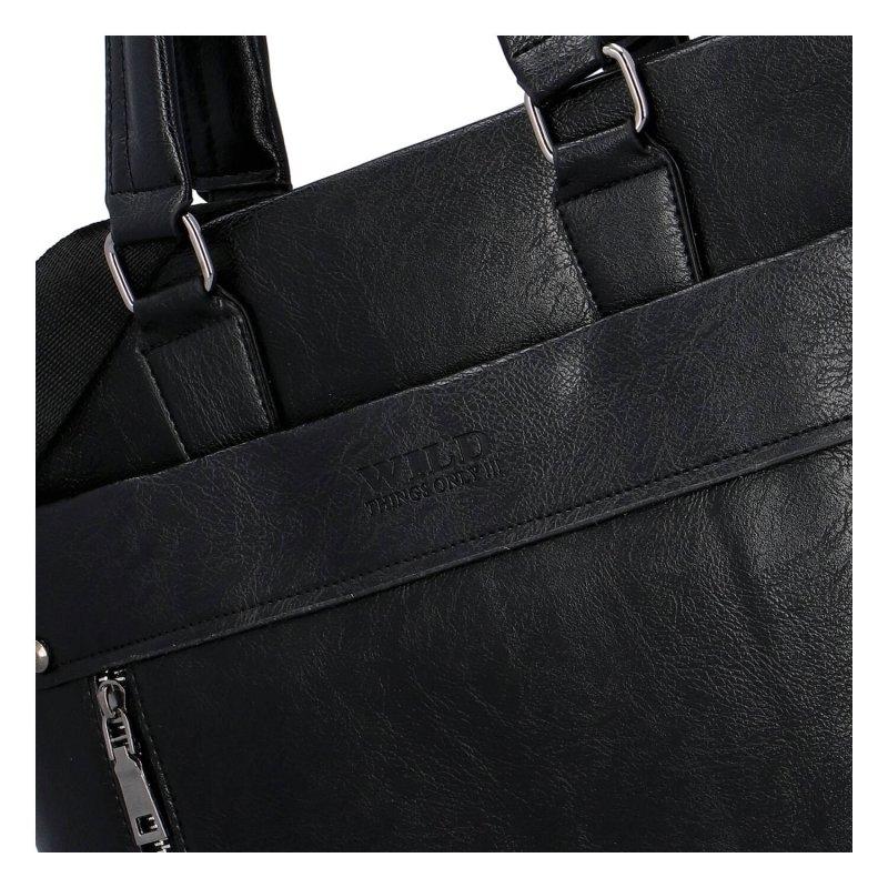 Dámská koženková kabelka Wild elegance, černá