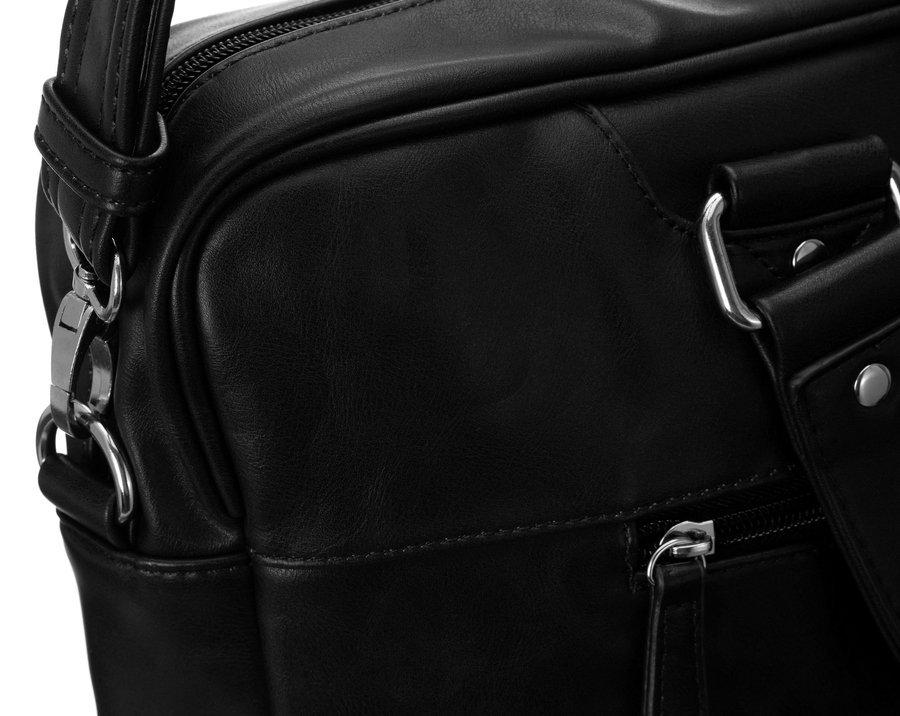 Dámská kožená taška Business woman, černá