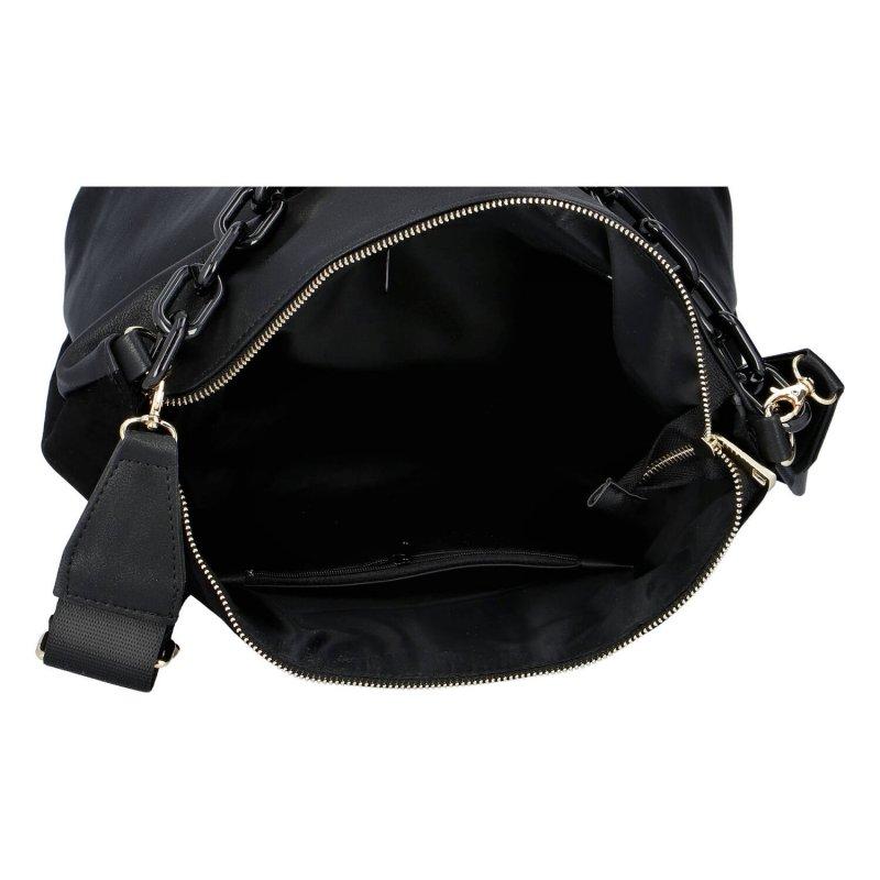 Luxusní dámská semišová kabelka Giulia Laura Biaggi, černá