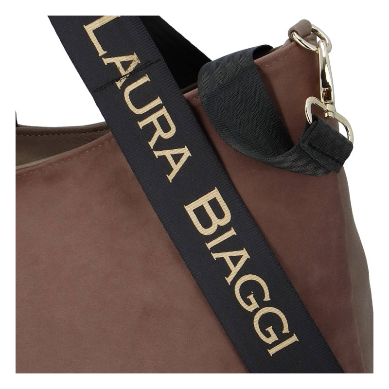 Zajímavá a módní dámská koženková kabelka Martina Laura Biaggi, hnědá