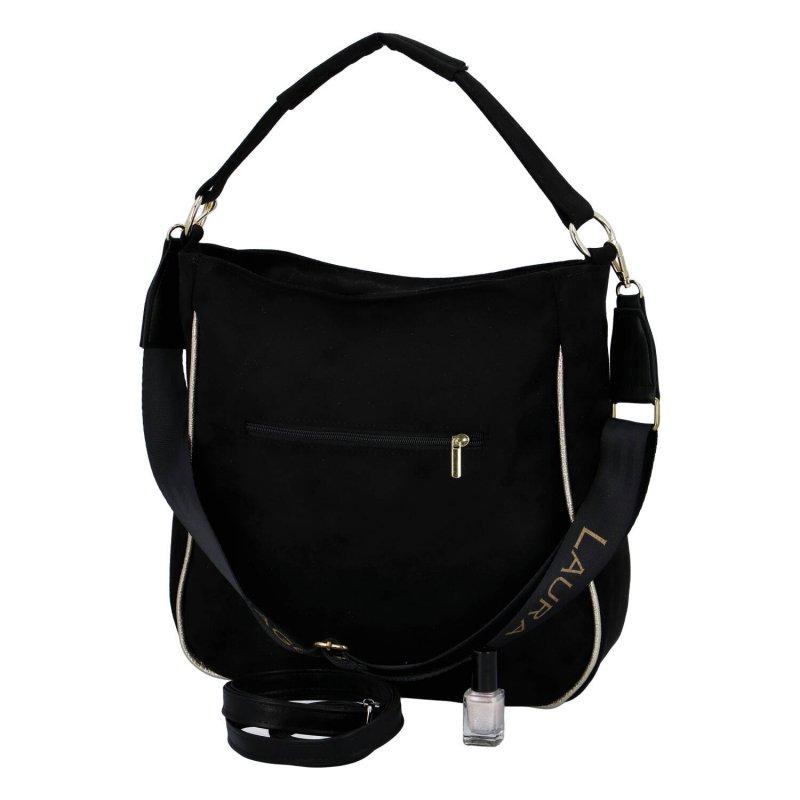 Stylová dámská semišová kabelka Alessia Laura Biaggi, černá