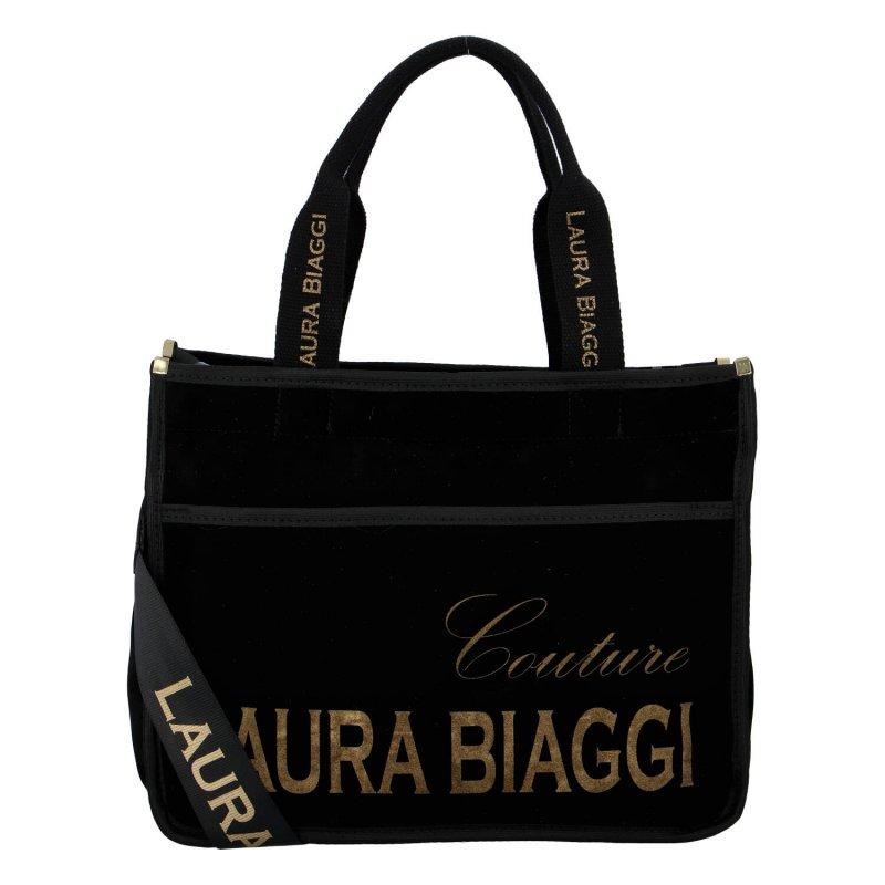 Nepřehlédnutelná dámská semišová kabelka Marta Laura Biaggi, černá