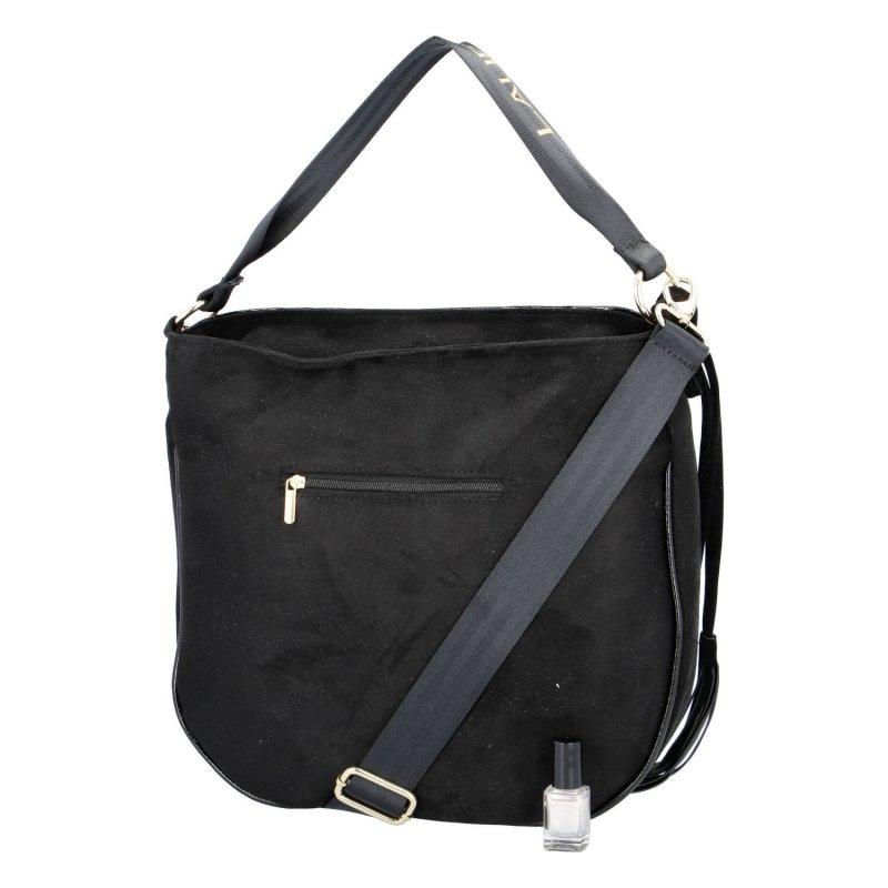 Stylová a módní dámská koženková taška Giada Laura Biaggi, černá