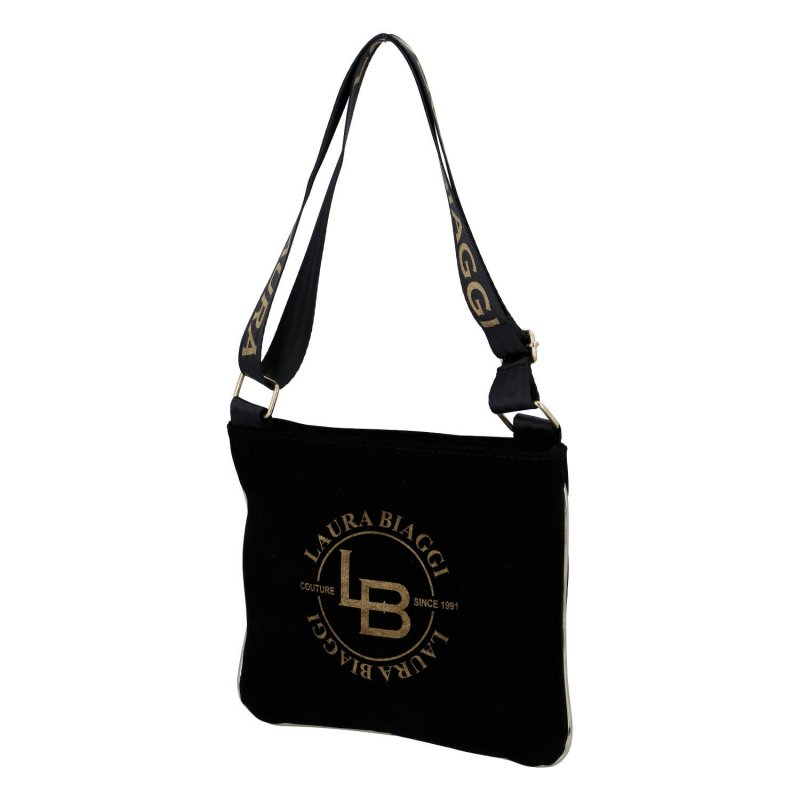 Menší stylová semišová sportovní taška Michela Laura Biaggi, černá