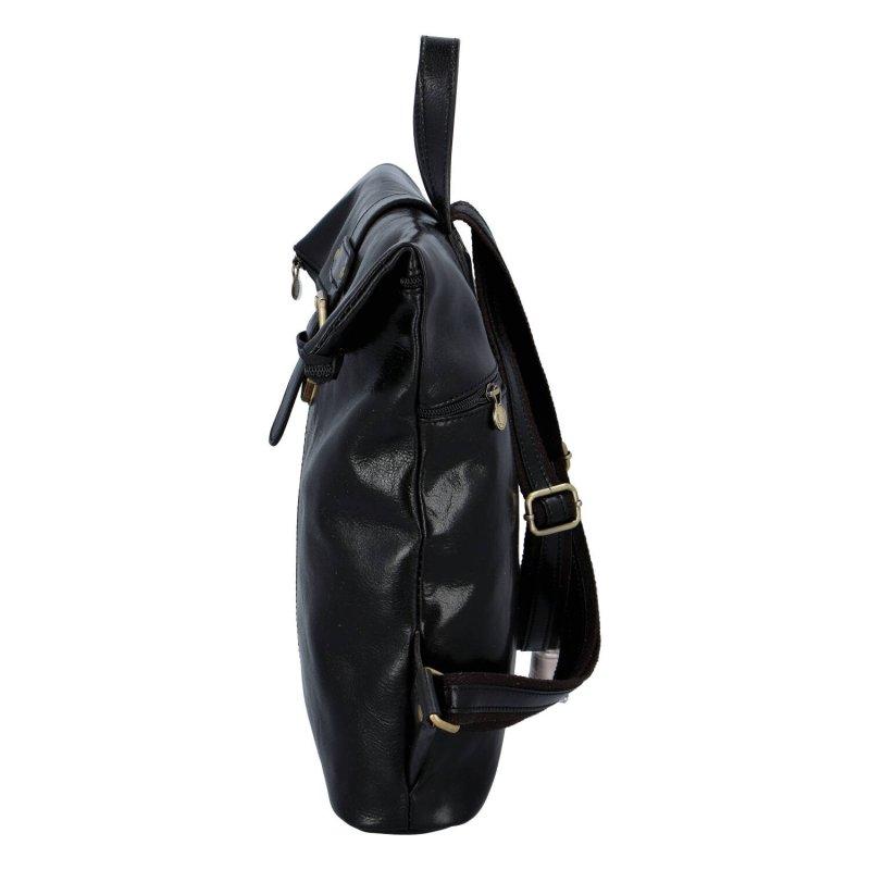 Prostorný kožený batoh pro dámy i pány Claire, černá