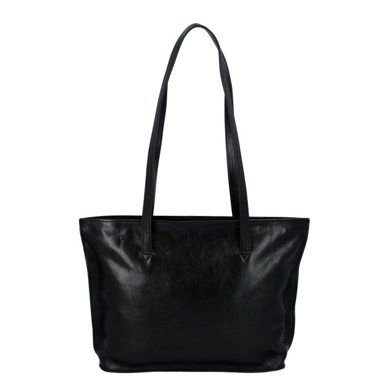 Stylová a praktická dámská kožená taška Josette, černá