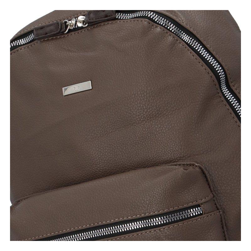 Stylový a prostorný koženkový batoh pro dámy i pány Florence, šedá