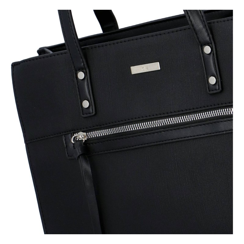 Praktická a stylová dámská koženková taška Elodie, černá