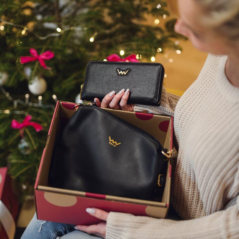 Dárkový set VUCH Elegance in gold, kabelka, peněženka, naušnice a náhrdelník