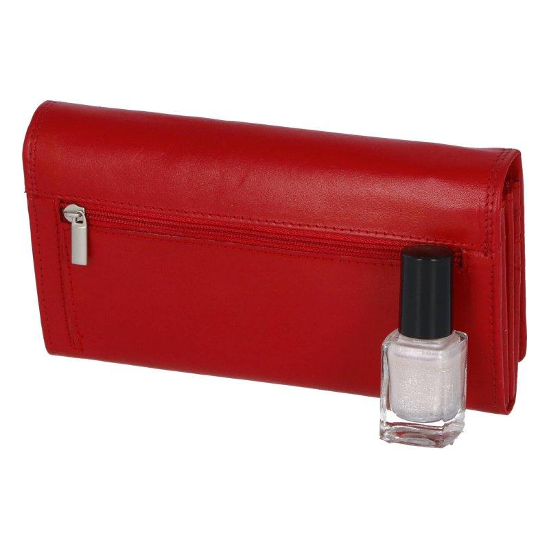 Dámská kožená peněženka Bellugio, červená