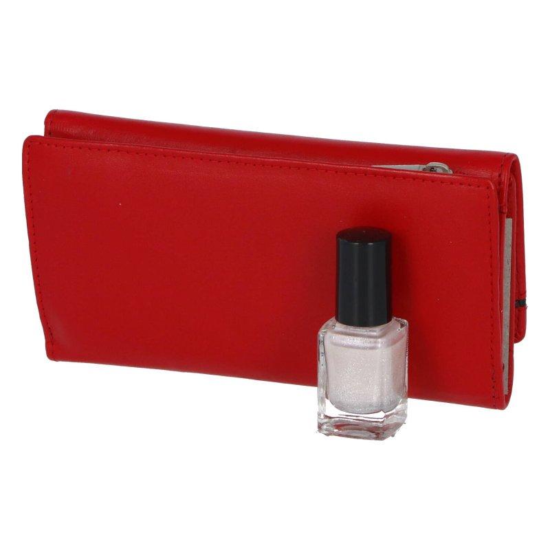 Nepřehlédnutelná dámská kožená peněženka Agnesa, červená