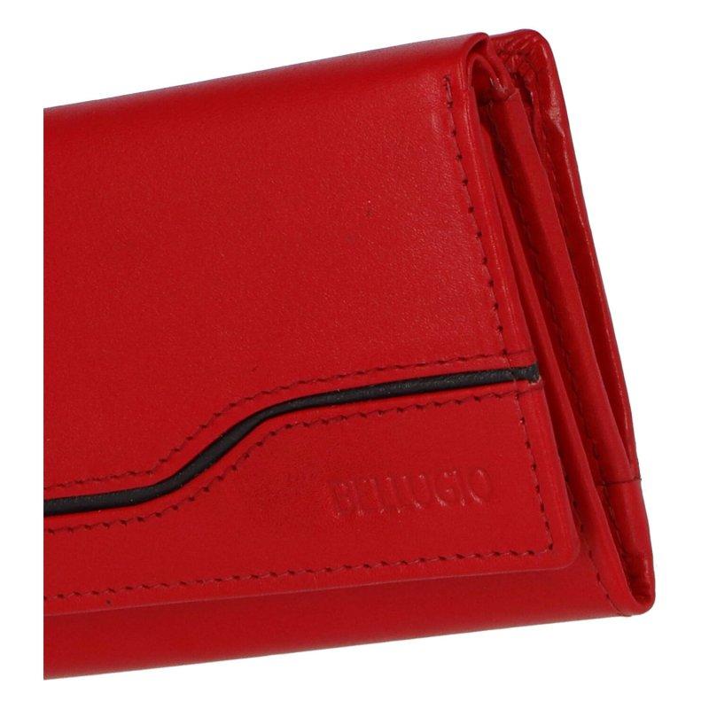 Pěkná dámská kožená peněženka Nikola, červená