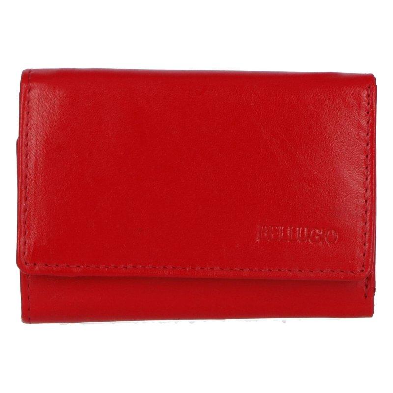 Menší a praktická dámská kožená peněženka, Emília, červená
