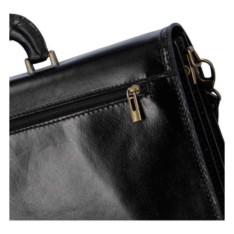 Pánská kožená aktovka Simmon, černá