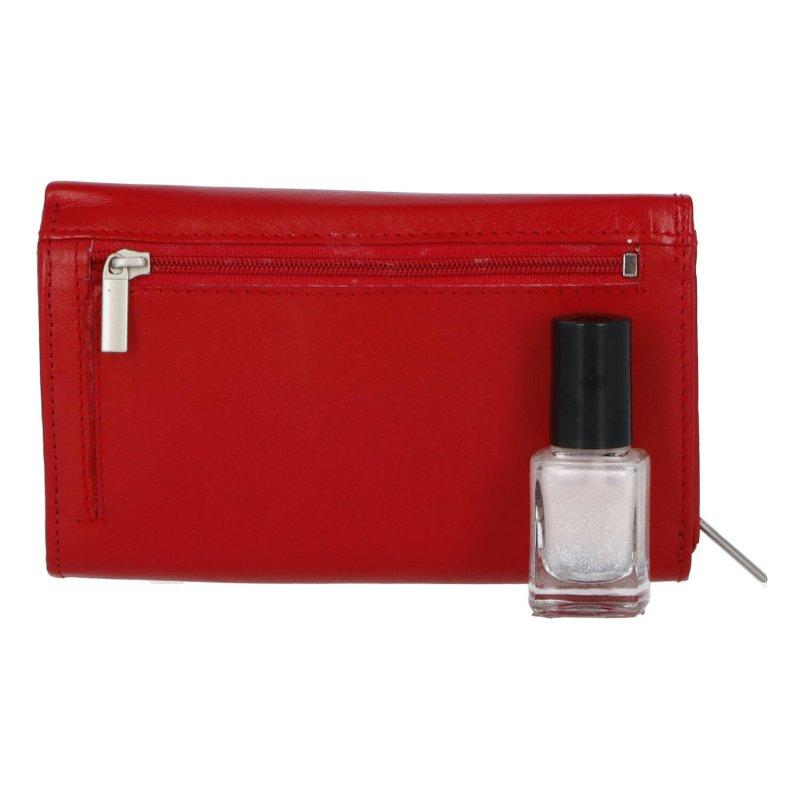 Dámská praktická kožená peněženka Amálie, červená