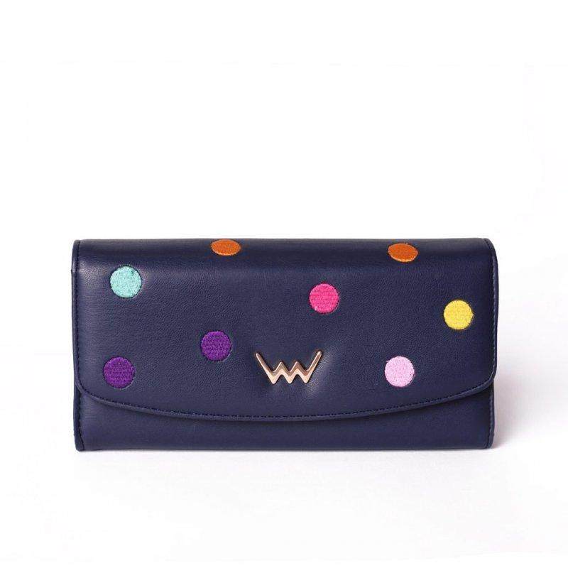 Dámská koženková peněženka VUCH Sasi, modrá