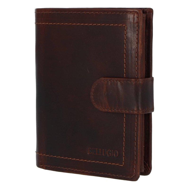 Pánská kožená peněženka Bellugio John, hnědá