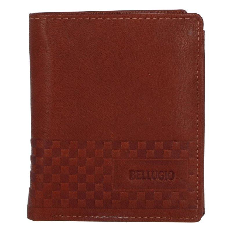 Pánská kožená peněženka Bellugio Jimmy, hnědá