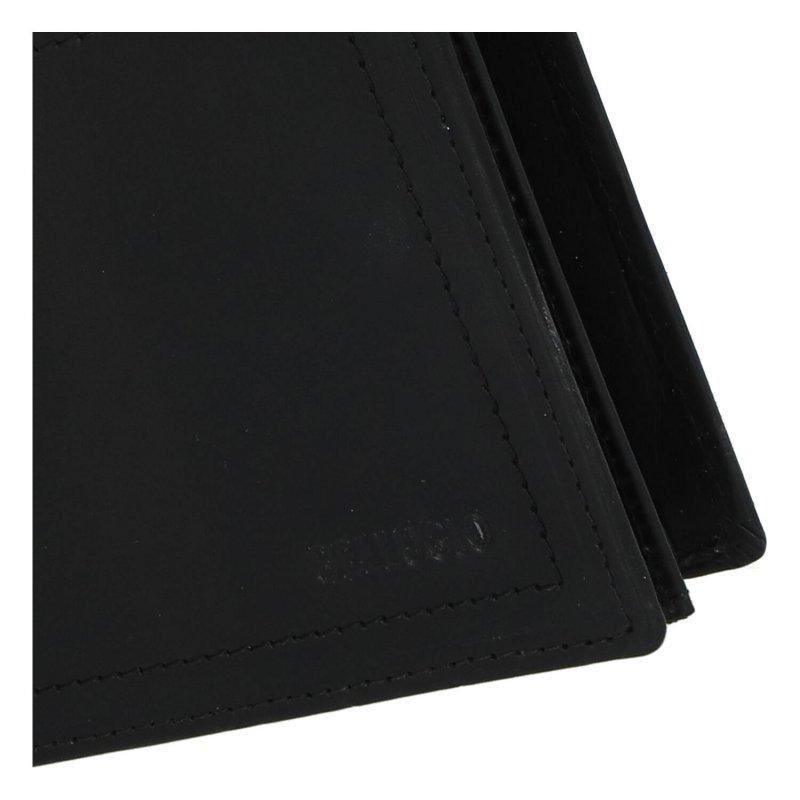 Elegantní pánská kožená peněženka Bellugio Lui, černá