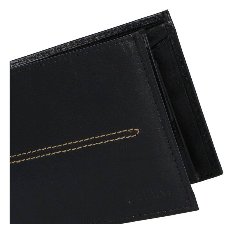 Elegantní pánská koženková peněženka Ellini Sasha, černá